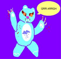 evil care bear by EricaVee