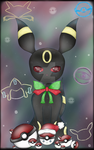 Umbreon's Christmas (Without Tree) by Emerald-Sakura