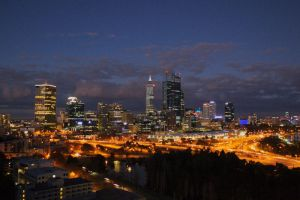 Perth at Night by Siyih