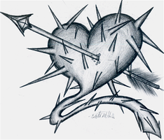 Spiked Heart by InfinityFangX