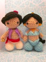Aladdin and Jasmine Amigurumi Doll Set by Spudsstitches
