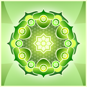 Simple Green Mandala by Viscious-Speed