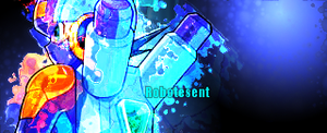 Blue Signature by Robotesent