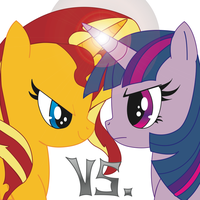 Sunset Shimmer Vs. Twilight Sparkle by death12905