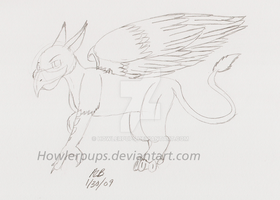 Gryphon-Sketch by HowlerPups