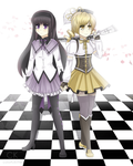 Homura and Mami .:Comm:. by colorfulkitten