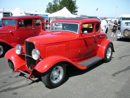 1932 Ford Red Five Window Coupe by RoadTripDog