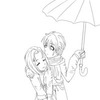 after the rain-lineart by GothicRaine1712