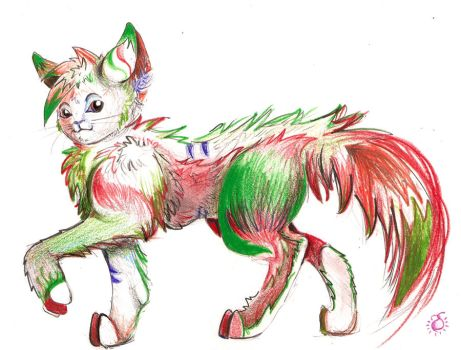Christmas Cat by Spilled-Sunlight