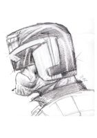Pencil Dredd by EdGrimreaper