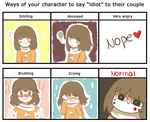 Ways to say idiot /meme/ by ani12