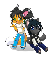 Chibi Commission for Bronek 2 by luna777