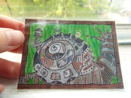 #2 ACEO for Chid0: Steampunk Steamer Snail by Starfish2o