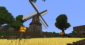 minecraft - windmill by schattenw0lf