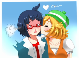 Bel and Cheren: chu by JohanAnderssonGX