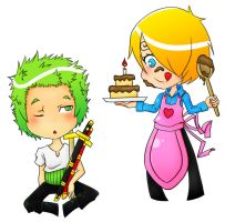Zoro x Sanji - Happy Birthday by Nagoshisb