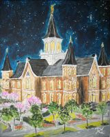 Stars over Provo City Center LDS Temple by Ridesfire