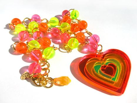 Mighty Love Neon necklace by pinkminx