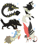 Monster adoptables (closed) by Dusty-Demon