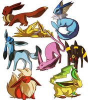 Eeveelutions by Stumppa