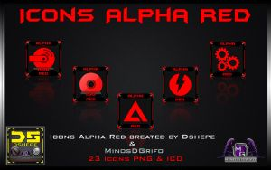 Icons Alpha Red by DShepe