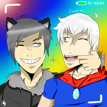 GIMP and Paint.Net Having A Grand Time by MetaRikuHetalia