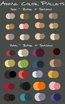 anime color pallets by KayeShepherd