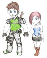 My First CHRIS x JILL Art by redfield37