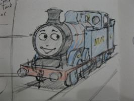 The Little Blue Tank Engine by TheguyfromNorramby