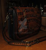 OUIJA leather shoulder bag by Lagueuse