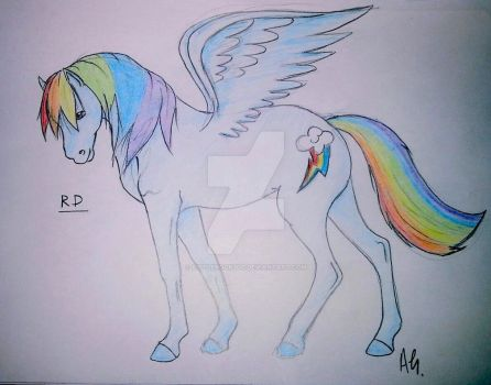 Rainbow Dash by LittleRock3DD