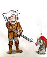 Geralt vs Bloodthirsty Monster by elicenia
