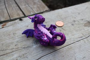 Another Purple Swirly Dragon :) by RaLaJessR