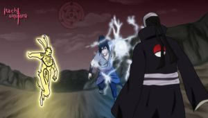 Naruto and sasuke VS Madara by itachiulquiorra