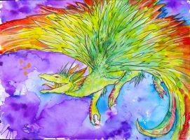 Colourful dragon by JR-Dragona
