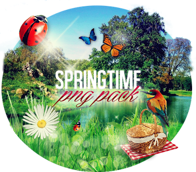 Spring png pack by iamszissz