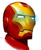 ironman head by chngch