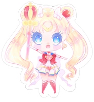 Chibi Super Sailor Moon by HotaruAyanami