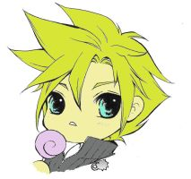 Cloud Strife Lineart by sasorilover01