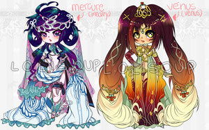 MERCURY AND VENUS ADOPTABLES by Lolisoup