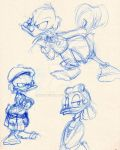 Scrooge and Goldie sketches by KicsterAsh