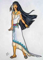 Pocahontas' Wedding Dress by happyeverafter