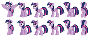 Twilight Sparkle vector sprites by AleximusPrime