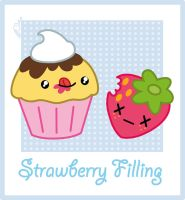 Strawberry Filled Muffin - Kawaii by DCRmx