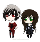 Roman and Ami Chibis by NikkieHale