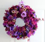 Purple Majesty floral wreath by Lyrak