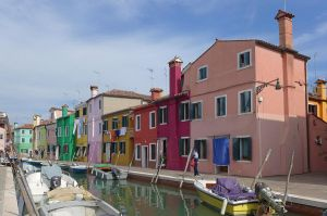 Colourful Houses at Burano by bobswin