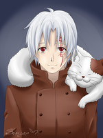 Allen Walker with Cat by Nyako-Shoyu