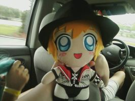 Roxas chibi doll and his hat by roxas-super-fangirl