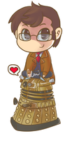 Tenth Doctor pendant/keychain design by SparkmanArtistry